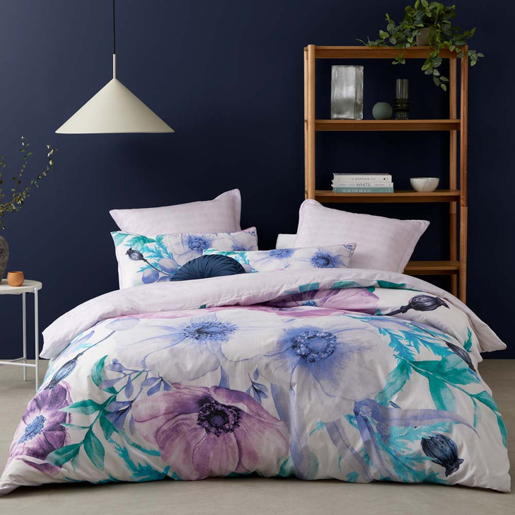 Logan and Mason Lovelle Lilac Super King Quilt Cover Set   My Linen