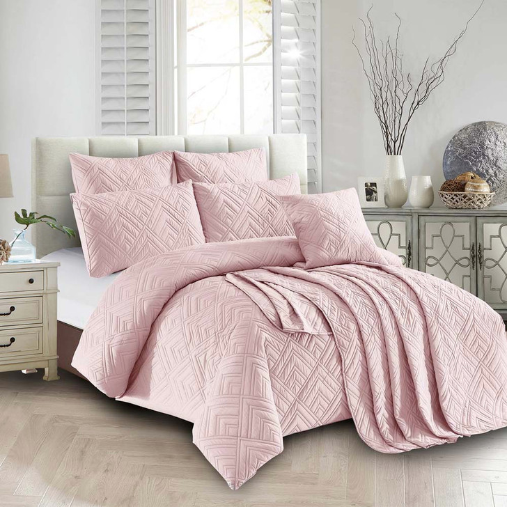Concierge Firenze Pink Sand Double Bed Quilt Cover Set | My Linen