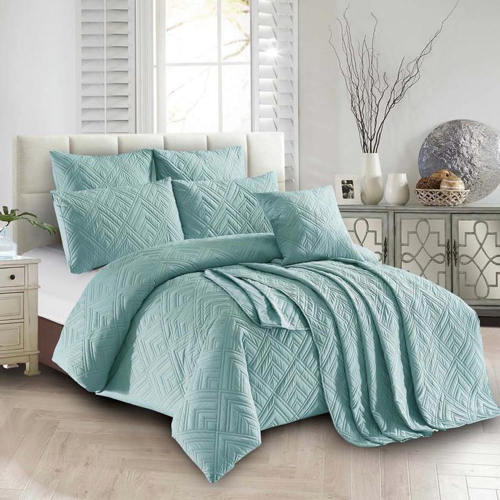 Concierge Firenze Ocean Double Bed Quilt Cover Set   My Linen