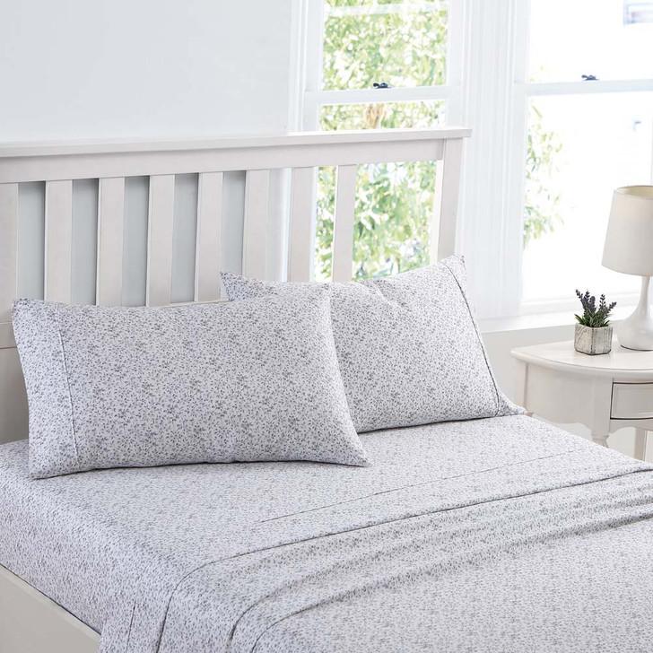 Laura Ashley Tierney Grey Sheet Set King Single Bed | My Linen