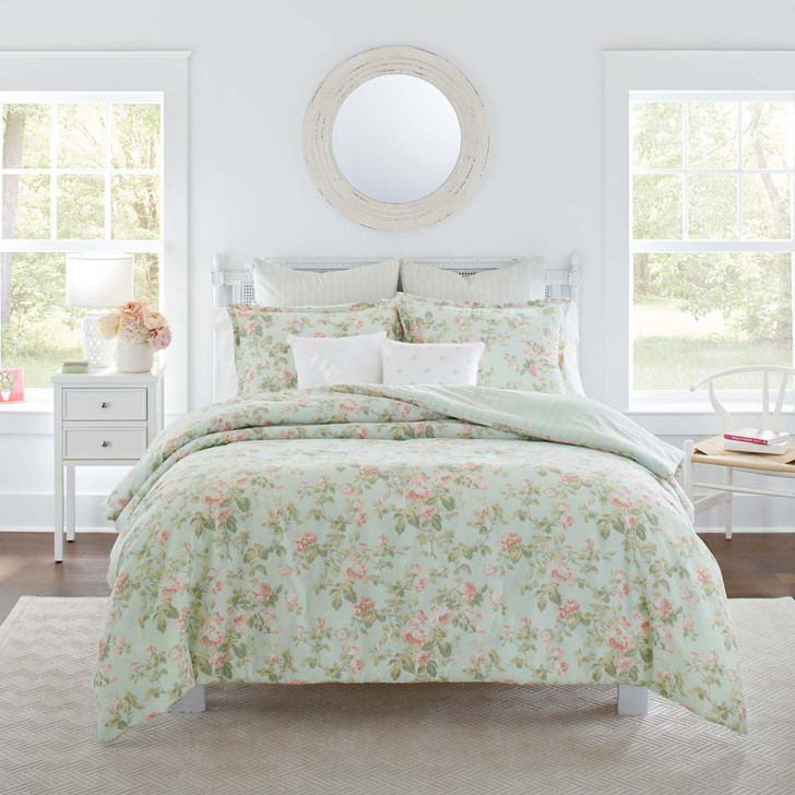 Laura Ashley Madelynn Queen Bed Quilt Cover Set | My Linen
