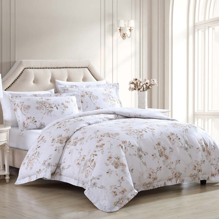 Laura Ashley Lorene King Bed Quilt Cover Set Lifestyle   My Linen