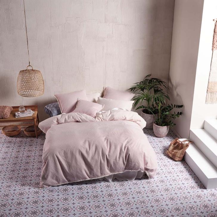 Linen House Lagos Blossom Queen Bed Quilt Cover Set   My Linen