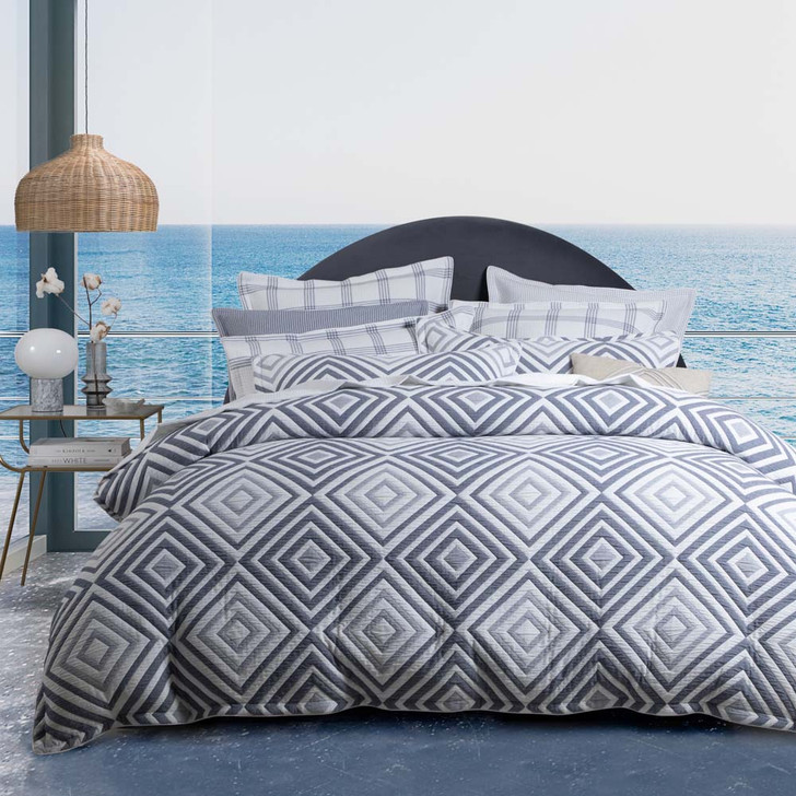 Private Collection Lambert Ink Super King Quilt Cover Set   My Linen