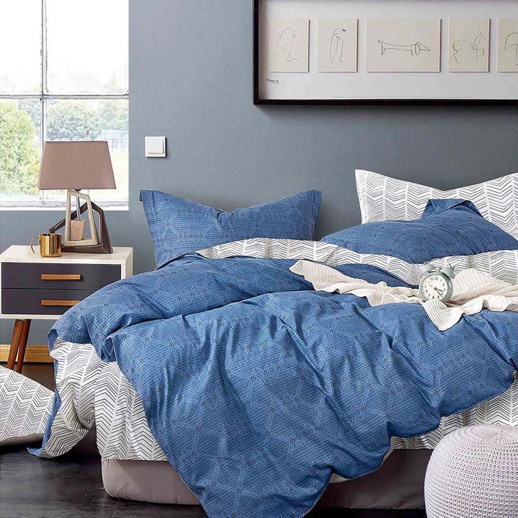 Ardor McCallum Blue Double Bed Quilt Cover Set | My Linen