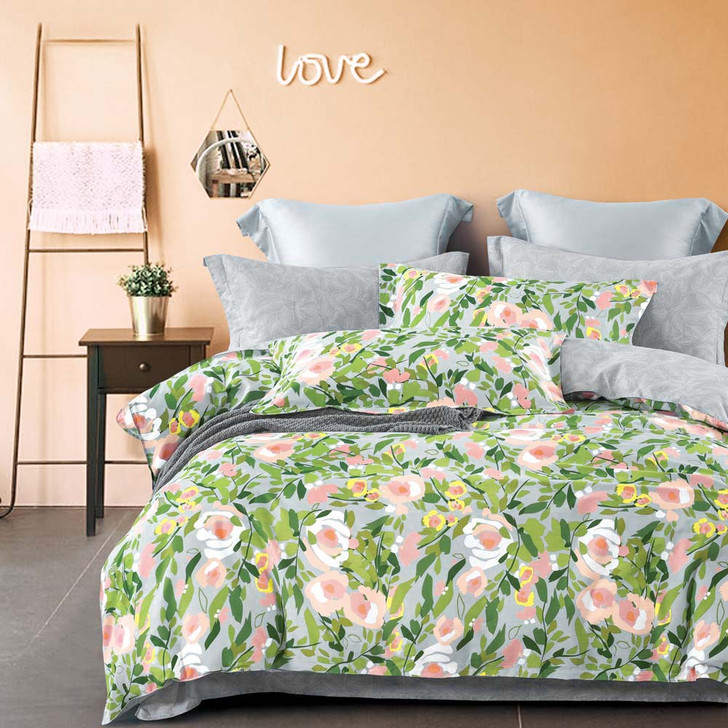 Ardor Ruby Multi Double Bed Quilt Cover Set   My Linen