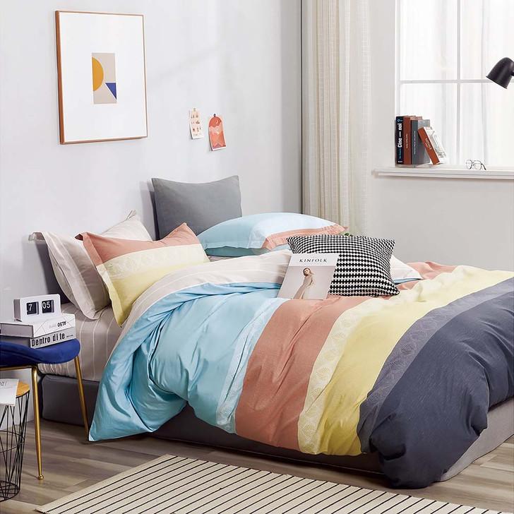 Ardor Cassie Multi King Bed Quilt Cover Set | My Linen