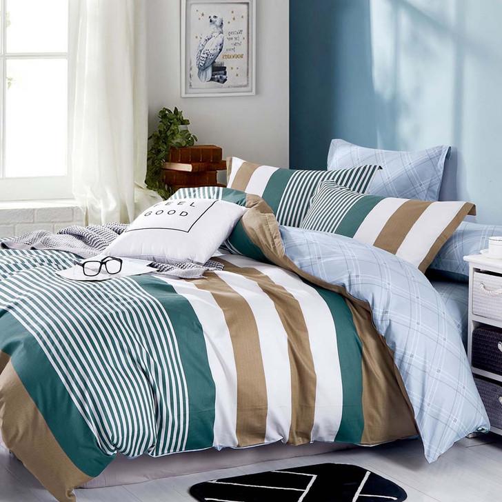 Ardor Jasper Multi Queen Bed Quilt Cover Set | My Linen