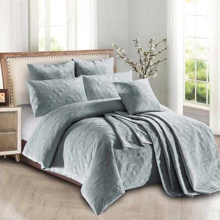 Concierge Mystique Grey Single Bed Quilt Cover Set   My Linen