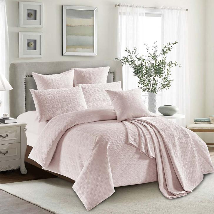 Concierge Heavenly Blush Single Bed Quilt Cover Set | My Linen