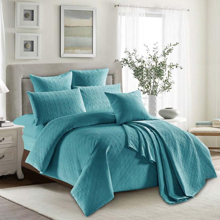 Concierge Heavenly Ocean Double Bed Quilt Cover Set   My Linen