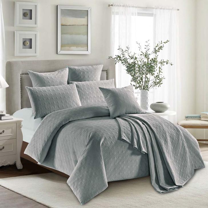 Concierge Heavenly Grey Single Bed Quilt Cover Set | My Linen