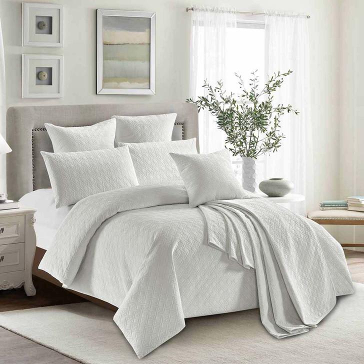 Concierge Heavenly White Queen Bed Quilt Cover Set   My Linen