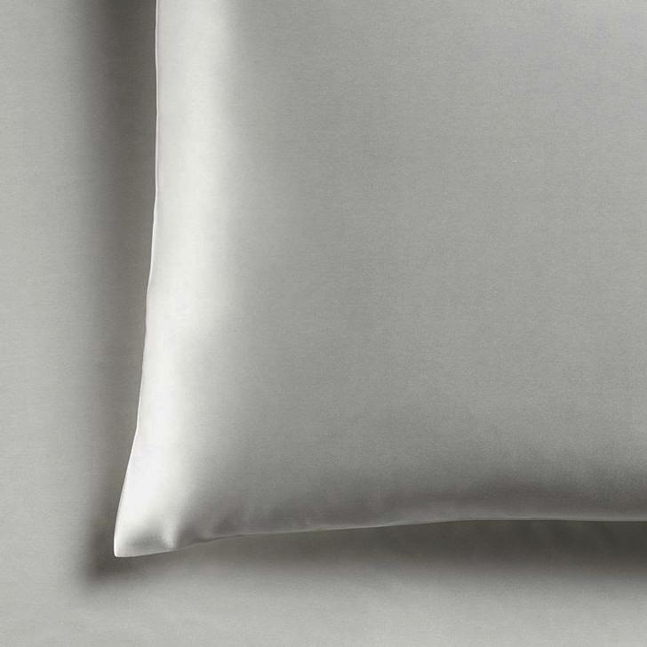 Ramesses Casablanca Silky Satin Silver Standard Pillowcases   My Linen