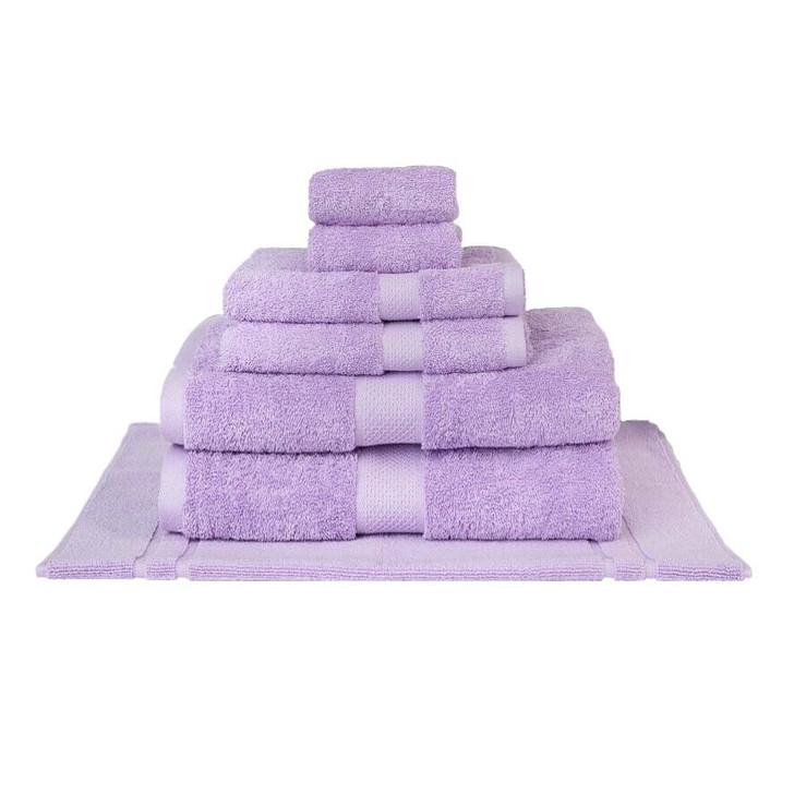 Mildtouch 100% Combed Cotton 7pc Bath Sheet Set Lilac | My Linen