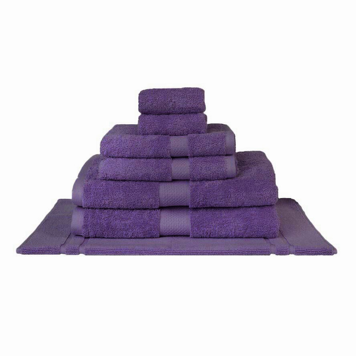 Mildtouch 100% Combed Cotton 7pc Bath Towel Set Purple | My Linen