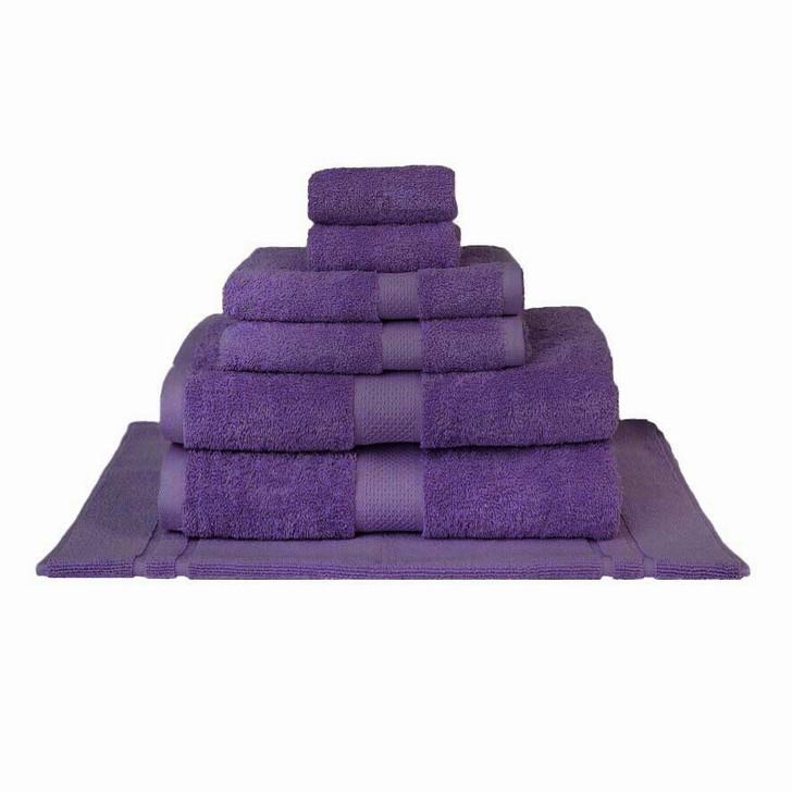 Mildtouch 100% Combed Cotton 7pc Bath Sheet Set Purple | My Linen