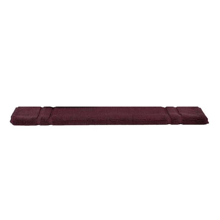 Mildtouch 100% Combed Cotton Bath Mat Burgundy  | My Linen