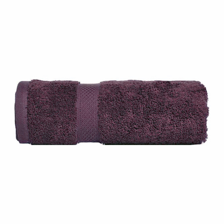 Mildtouch 100% Combed Cotton Bath Sheet Aubergine | My Linen