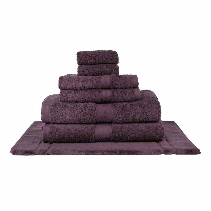 Mildtouch 100% Combed Cotton 7pc Bath Towel Set Aubergine | My Linen