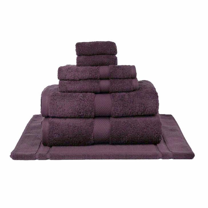 Mildtouch 100% Combed Cotton 7pc Bath Sheet Set Aubergine | My Linen