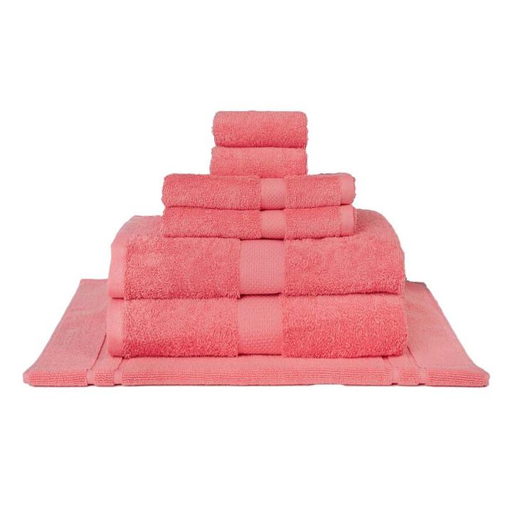 Mildtouch 100% Combed Cotton 7pc Bath Sheet Set Lip Gloss   My Linen
