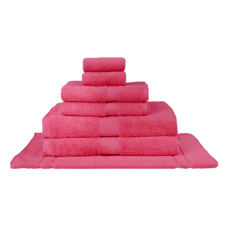 Mildtouch 100% Combed Cotton 7pc Bath Towel Set Fuchsia | My Linen
