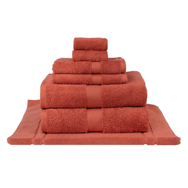 Mildtouch 100% Combed Cotton 7pc Bath Sheet Set Rust | My Linen
