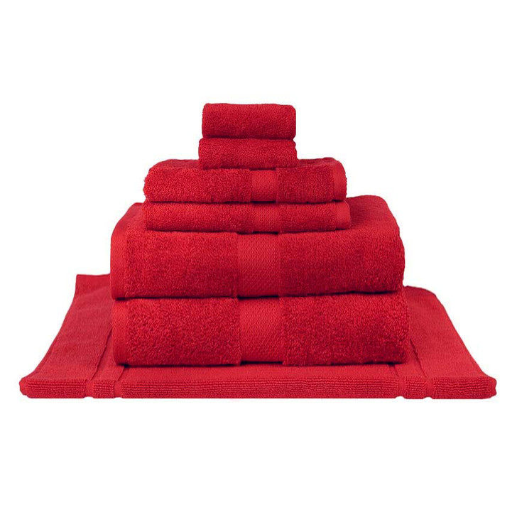 Mildtouch 100% Combed Cotton 7pc Bath Sheet Set Red | My Linen