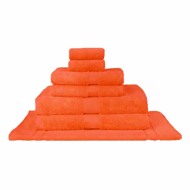 Mildtouch 100% Combed Cotton 7pc Bath Towel Set Orange | My Linen
