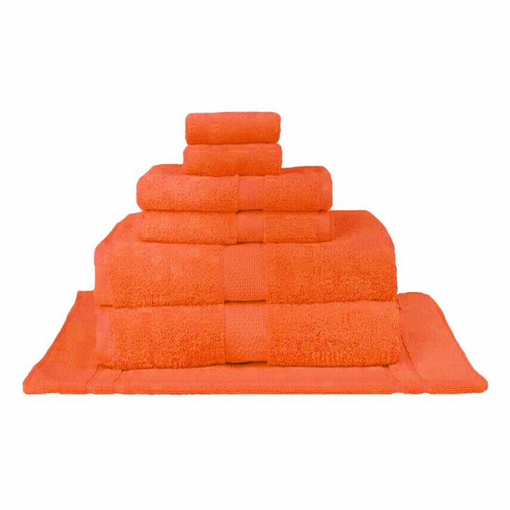 Mildtouch 100% Combed Cotton 7pc Bath Sheet Set Orange | My Linen