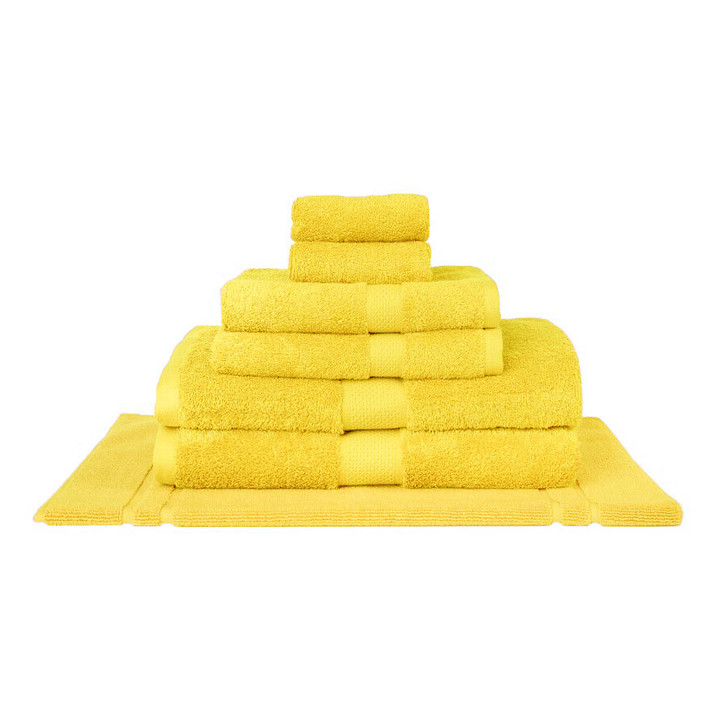 Mildtouch 100% Combed Cotton 7pc Bath Towel Set Yellow | My Linen