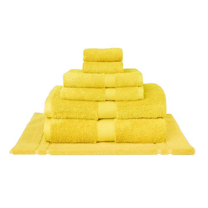 Mildtouch 100% Combed Cotton 7pc Bath Sheet Set Yellow | My Linen