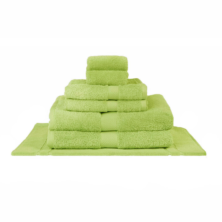 Mildtouch 100% Combed Cotton 7pc Bath Towel Set Lime | My Linen