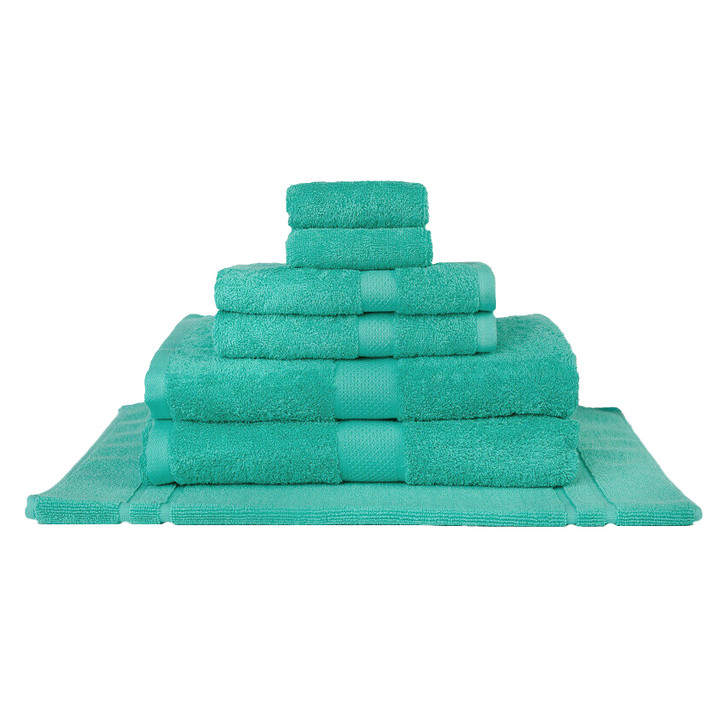 Mildtouch 100% Combed Cotton 7pc Bath Towel Set Turquoise | My Linen