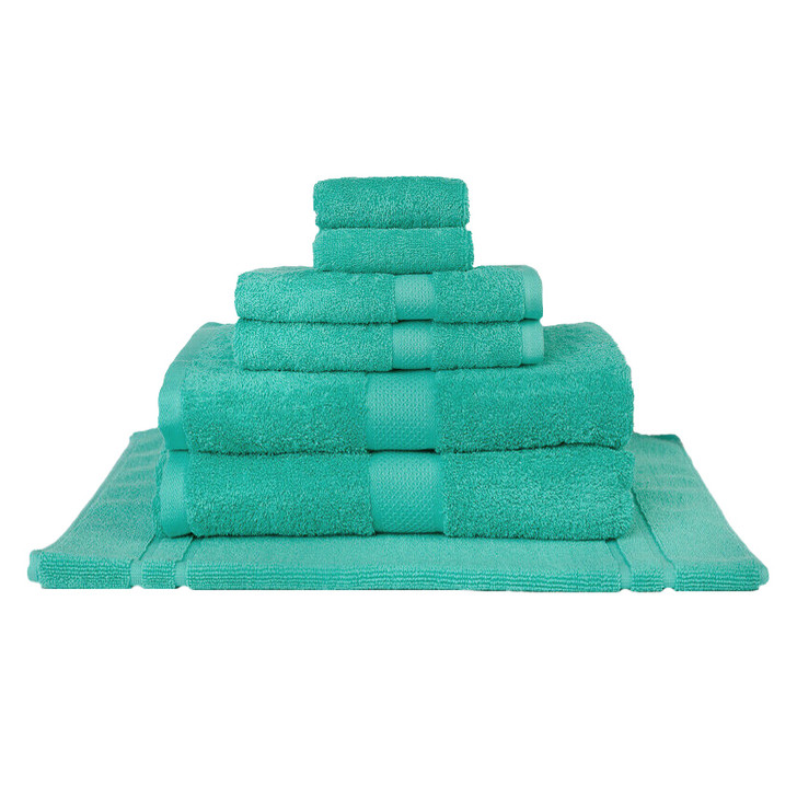Mildtouch 100% Combed Cotton 7pc Bath Sheet Set Turquoise | My Linen