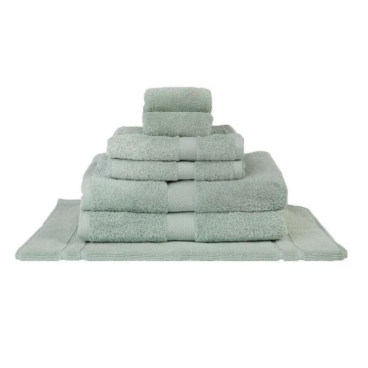 Mildtouch 100% Combed Cotton 7pc Bath Towel Set Frost | My Linen