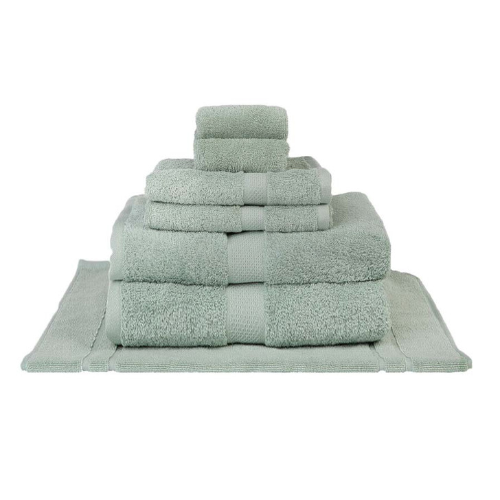 Mildtouch 100% Combed Cotton 7pc Bath Sheet Set Frost | My Linen