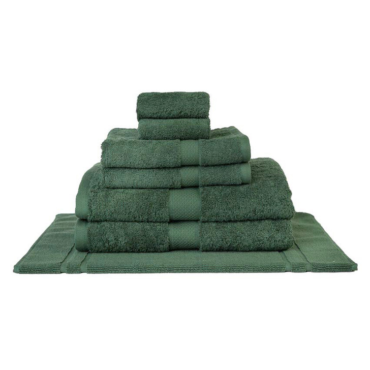Mildtouch 100% Combed Cotton 7pc Bath Towel Set Forest | My Linen
