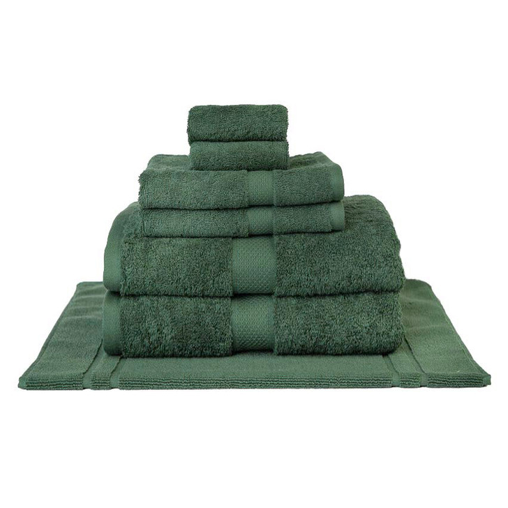 Mildtouch 100% Combed Cotton 7pc Bath Sheet Set Forest | My Linen