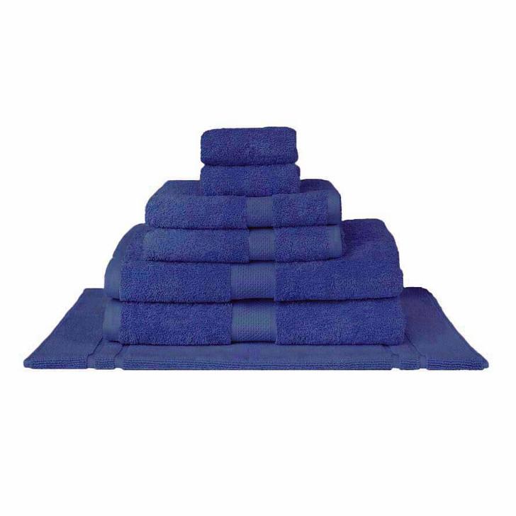 Mildtouch 100% Combed Cotton 7pc Bath Towel Set Royal Blue | My Linen