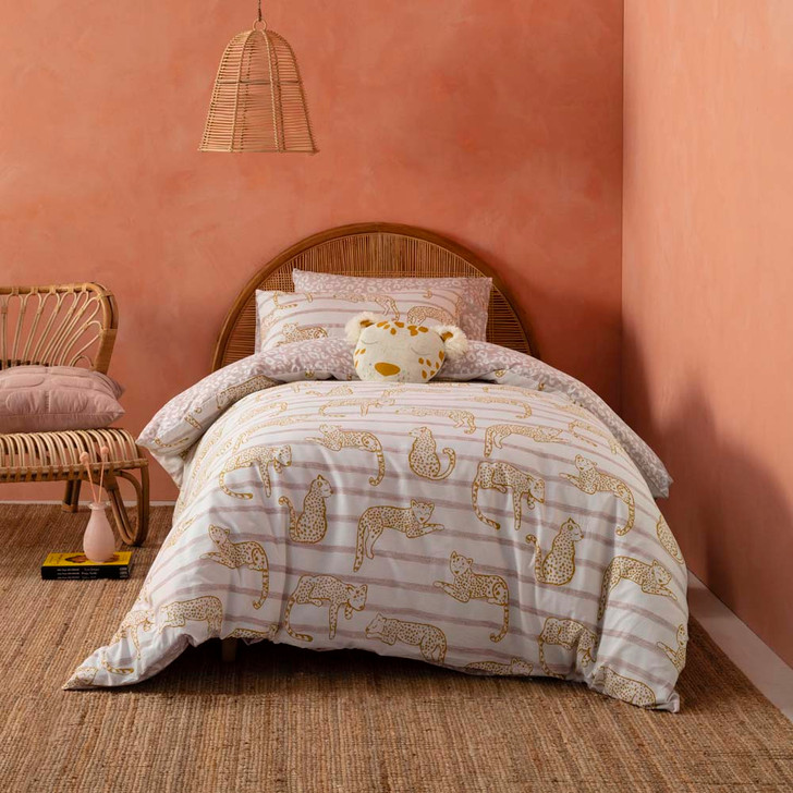 KAS Kids Lazy Leopard Double Bed Quilt Cover Set | My Linen