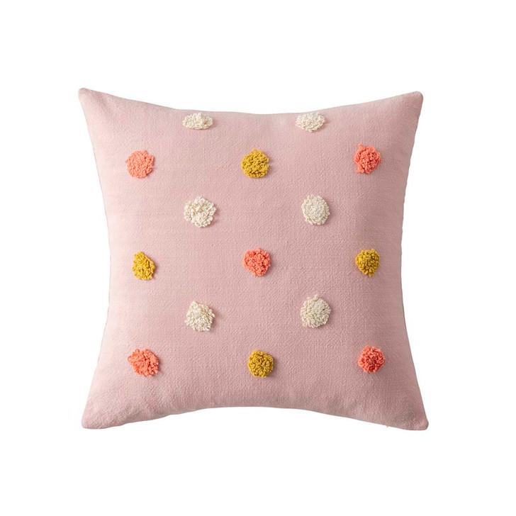 KAS Kids Pom Pom Square Filled Cushion   My Linen