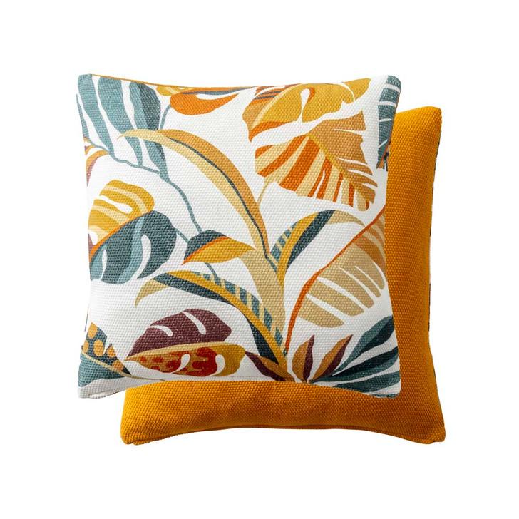 KAS Kai Mustard Square Filled Cushion | My Linen