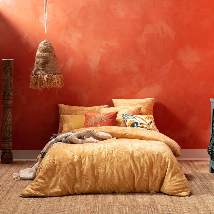 KAS Kalido Mustard Queen Bed Quilt Cover Set | My Linen