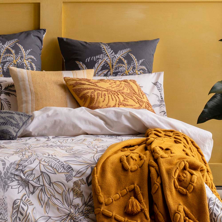 KAS Vito Multi King Bed Quilt Cover Set Close Up | My Linen
