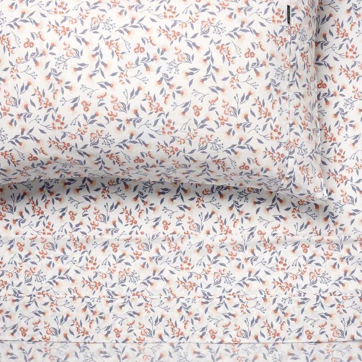 Linen House Matilda Mauve Sheet Set King Bed   My Linen