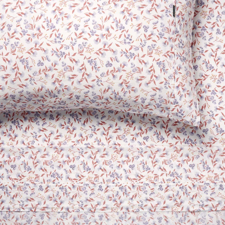 Linen House Matilda Peach Sheet Set King Single Bed | My Linen