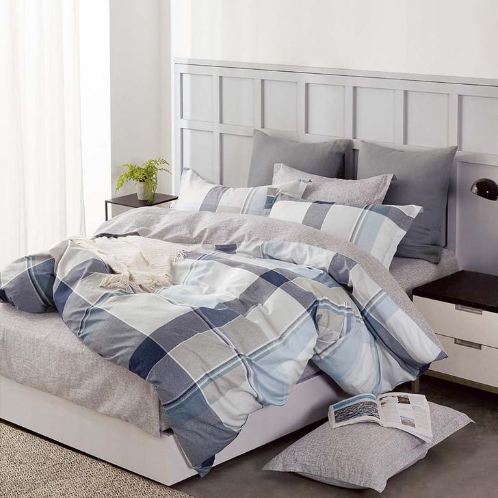 Ardor Kristopher Grey King Bed Quilt Cover Set   My Linen