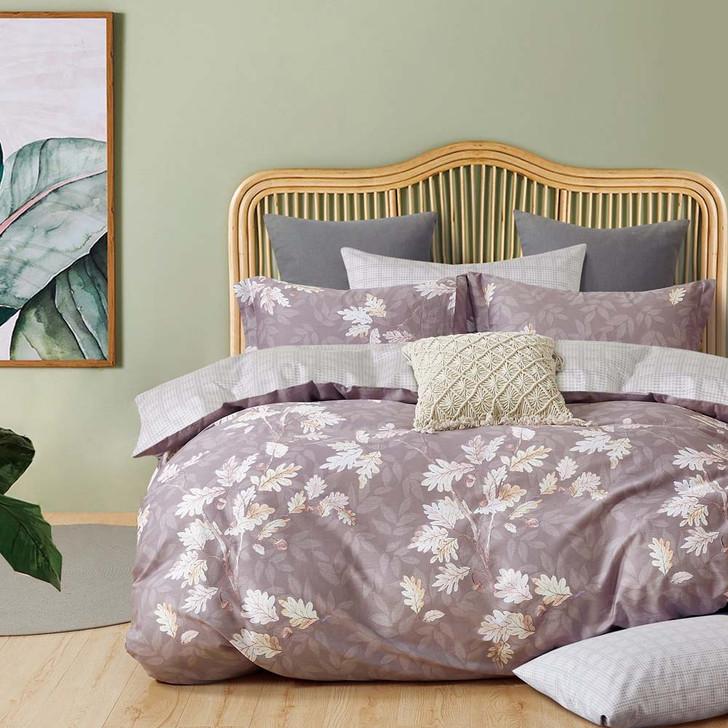 Ardor Eleanor Mauve Double Bed Quilt Cover Set | My Linen